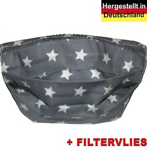 Mundschutz Behelfsmaske Baumwolle + Filtervlies Mundbedeckung Waschbar PROFINAHT