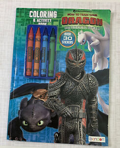 How To Train Your Dragon Hidden World Coloring Activity Book & 30+ Stickers