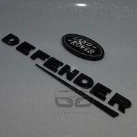 DEFENDER COUNTY 90 110 BLACK 3D SUPERCHARGED OVAL BACK REAR BADGE fit land rover