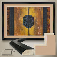 """44W""""x32H"""" EGYPTIAN DOORS by YVES HENRY - DOUBLE MATTE, GLASS and FRAME"""