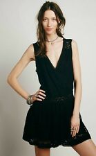 Free People First Bloom Lace Summer Beach Dress in Black - L Large