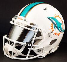 ***CUSTOM*** MIAMI DOLPHINS Full Size NFL Riddell SPEED Football Helmet