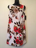 Alyx Floral Sheath Dress White Multi Color Womens Size 8