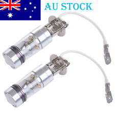 1Pair H3 6000K 100W LED 20 SMD Lamp Projector Fog Driving DRL Light Bulbs White