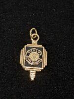 Vintage Gold Tone Taylor High School Charm