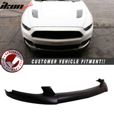 Fits 15-17 Ford Mustang Front Bumper Lip Spoiler - Poly Urethane