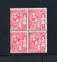 "MONACO YVERT N° 5 "" PRINCE CHARLES III 15c ROSE 1885 BLOC 4 "" NEUF xx/x TB V044"