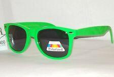 Neon Frog Green Premium Glare Blocking Polarized Sunglasses w Spring Hinge Uv400