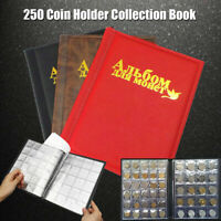 250 Coin Holder Collection Storage Collecting Money Penny Pockets Album Book
