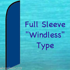 Solid Blue Windless Feather Flag Tall Advertising Event Swooper Flutter Banner