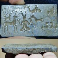 very old rare near Eastern lapis lazuli stone relief stone   # 22