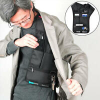 Hidden Invisible Crossboby Bag Multifunctional Burglarproof Storage Bag - Black