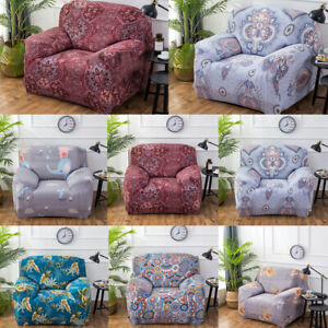 Soft 1/2/3/4 Seater Stretch Slipcovers Sofa Covers Elastic Couch Cover Protector