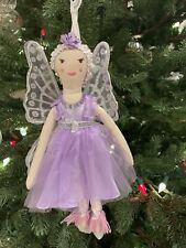 Pottery Barn Kids Fairy Plush Doll Ornament Christmas Tree New