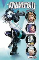 DOMINO ANNUAL #1 GREG LAND 1st PRINT NM NEW MUTANTS 87 HOMAGE