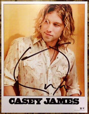 CASEY JAMES Ltd Ed Signed 8x10 Official Press Photo +FREE Country/Rock Stickers