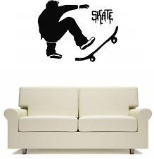 Skater Skateboard  Wall Art Sticker Free Postage