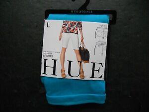 Hue Womans The Original Jeans Boyfriend Shorts Size L Blue New Free Ship