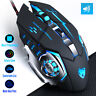 Adjustable DPI Wired Optical LED Backlight Computer Gaming Mouse Silent Button