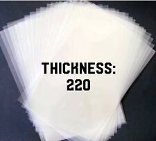 5 A4 Fogli di 220 Mic Mylar Stencil Film Acetato Pellicola Plastica Trasparente