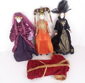 """Star Wars Episode 1 LOT of 3 Queen Amidala 12"""" Dolls Figures Ultimate Collection"""