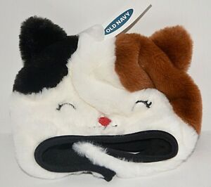 OLD NAVY FAUX FUR CAT TRAPPER HAT FOR TODDLER BABY GIRLS BROWN PLUSH S 12 - 24 M