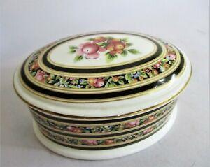 Beautiful Large Wedgwood Bone China Oval Trinket Box Clio Design