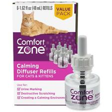 Comfort Zone 6-Ct Cat Calming Diffuser Refill Drug-Free Solution 48-Ml 180 Day