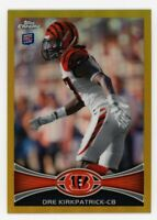 2012 Topps Chrome DRE KIRKPATRICK Rookie Card RC GOLD REFRACTOR #/50 Alabama #28