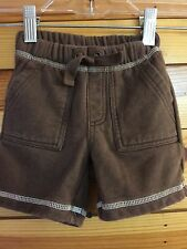*JANIE AND JACK* Boys ISLAND SURF Brown Sweat Shorts Size 3-6 Months