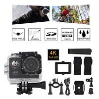 Outdoor Action Camera 4K HD 2 Inch Screen Waterproof Sports DV Camera Camcorder