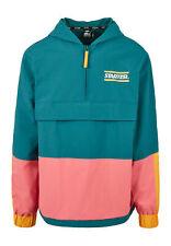 Starter Jacket Multi Colored Logo Windbreaker ST028 Green/Yellow/Pink