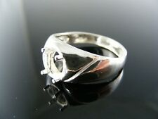 5700 RING SETTING STERLING SILVER, SIZE 11.75, 8X6MM OVAL STONE