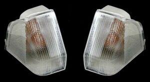 CITROEN BX 1987-1992 PAIR FRONT INDICATOR LIGHT LENS REPEATER LEFT + RIGHT SET