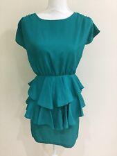 Ask Grace Women's Evening Cocktail Dress Ruffle Skirt Size 6