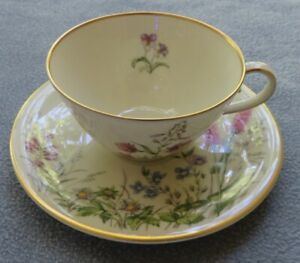 Franconia Krautheim Selb Bavaria Germany Meadow Flowers Cup and Saucer Set G
