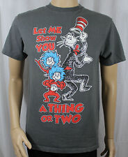 Let Me Show You A Thing or Two Grey T-Shirt Dr Seuss Cat in the Hat Thing 1 & 2