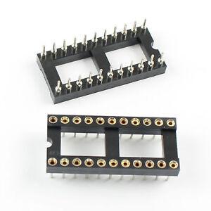 5Pcs New 2.54mm Pitch 22 Pin Round DIP IC Socket Adapter Narrow
