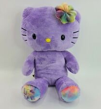 Limited Edition Purple Hello Kitty Build-A-Bear Plush Stuffed Animal with Bow