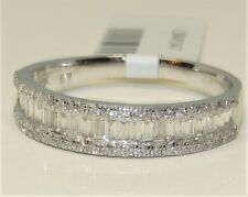 18CT 18 CARAT WHITE GOLD 0.55CT BAGUETTE  ROUND  DIAMOND ETERNITY BAND RING O