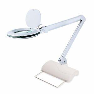 Lumeno 861XGR Lupenleuchte/Arbeitsplatzlampe 60 LEDs ovale Linse Gummiring grau