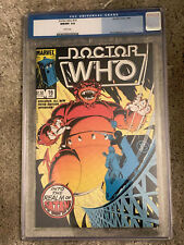 DOCTOR WHO #16 cgc 9.8 - Featuring The 5th Doctor - Marvel Comics 1986 ONLY 9.8