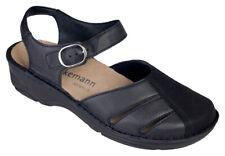 Berkemann Womens Maryjane Comfort Shoe US 9.5 UK 7.5 Black Leather Stretch