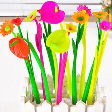 Hot 10 Pcs Cute Korean Stationery Flowers Gel Pen Ballpoint Pen Office Supplies