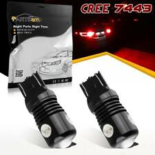 2PCS 7443 7440 Red Brake Light Stop Tail Light Cree COB High Power LED Bulbs