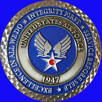 """2"""" US AIR FORCE SMILING REAPER CHALLENGE COIN NON MSG CPO  15"""