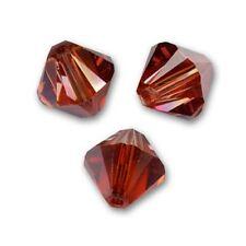 10 Perles Toupies 6mm Cristal Swarovski  CRYSTAL RED MAGMA  5328 XILION