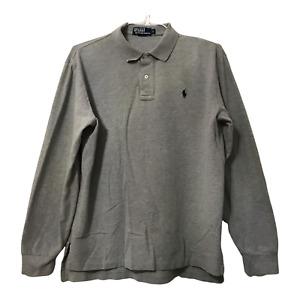 Polo Ralph Lauren Polo Shirt Adult Mens Large Gray Short Sleeve 1/4 Button Shirt