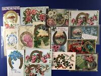 15 BIRTHDAY Horse Shoe Antique Postcards 1900s. For Collectors. Nice w Value!