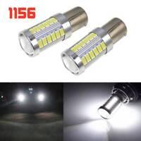 2x 1156 BA15S 21W 33LED Auto Vehicle Turn Lamp Reverse Tail Light Bulb 12V White